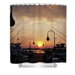 Sunset At The End Of The Talbot St Pier Shower Curtain