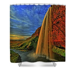 Shower Curtain featuring the photograph Sunset At The Falls by Scott Mahon
