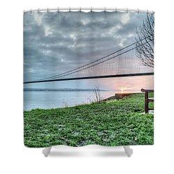 Sunset At The Humber Bridge Shower Curtain