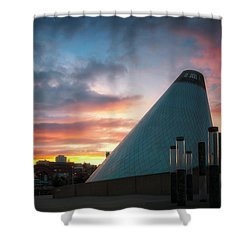Sunset At The Museum Of Glass Shower Curtain