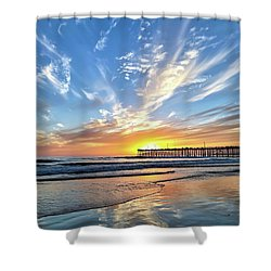 Sunset At The Pismo Beach Pier Shower Curtain