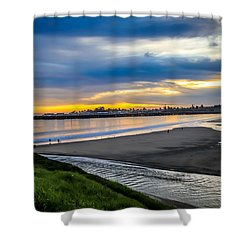 Sunset At The Rivermouth Shower Curtain