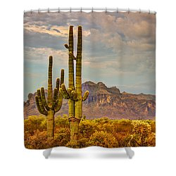 Sunset At The Superstitions  Shower Curtain