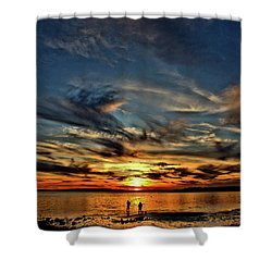 Sunset At The Waters Edge Shower Curtain