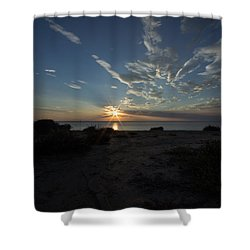 Shower Curtain featuring the photograph Sunset At Torrey Pines by Jeremy McKay
