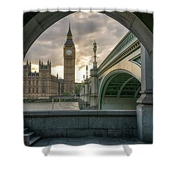 Sunset At Westminster Shower Curtain