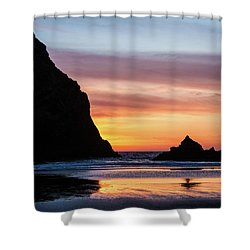 Sunset At Whalehead Beach Shower Curtain
