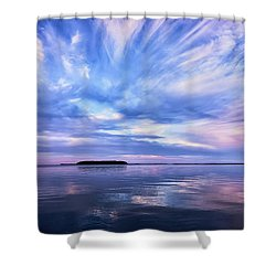 Sunset Awe  Signed Shower Curtain