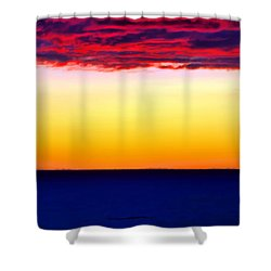 Sunset Background Shower Curtain