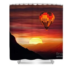 Sunset Balloon Ride Shower Curtain