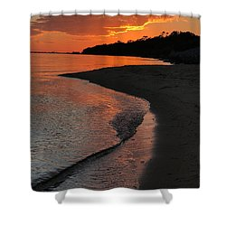 Shower Curtain featuring the photograph Sunset Bay by Lori Mellen-Pagliaro
