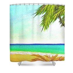 Sunset Beach #373 Shower Curtain by Donald k Hall