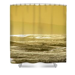 Sunset Beach Aglow  Shower Curtain