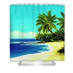 Sunset Beach Art North Shore Of Oahu In Summer #100 Shower Curtain by Donald k Hall