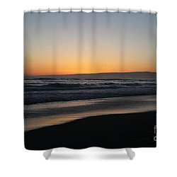 Sunset Beach California Shower Curtain by Amanda Barcon