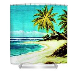 Sunset Beach Hawaiian #113 Shower Curtain by Donald k Hall