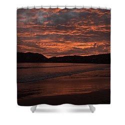 Shower Curtain featuring the photograph Sunset Beach by Jim Walls PhotoArtist