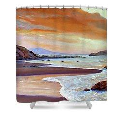 Sunset Beach Shower Curtain by Michael Rock