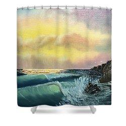 Sunset Beach Shower Curtain by Thomas Janos