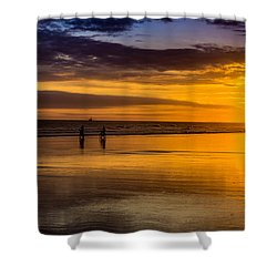 Sunset Bike Ride Shower Curtain by David Smith
