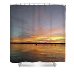 Sunset Blaze Shower Curtain