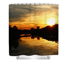 Sunset Bliss Shower Curtain by Robert Carey