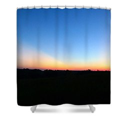 Shower Curtain featuring the digital art Sunset Blue by Jana Russon