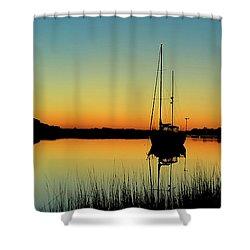 Sunset Bowens Island Shower Curtain