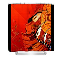 Sunset Building Shower Curtain by Thibault Toussaint