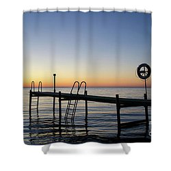 Sunset By The Old Bath Pier Shower Curtain