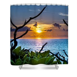 Sunset By The Point Shower Curtain