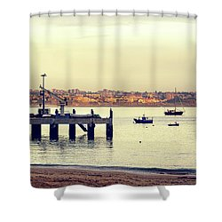 Shower Curtain featuring the photograph Sunset By The Sea by Marion McCristall