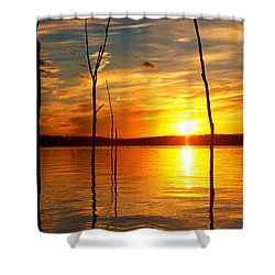 Shower Curtain featuring the photograph Sunset By The Water by Angel Cher