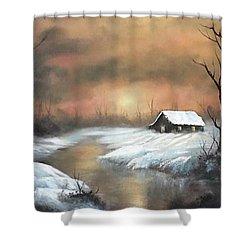 Sunset Cabin  Shower Curtain