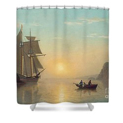 Sunset Calm In The Bay Of Fundy Shower Curtain by William Bradford