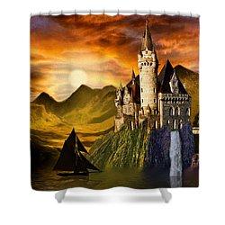 Sunset Castle Shower Curtain