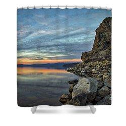 Sunset Cave Rock 2015 Shower Curtain