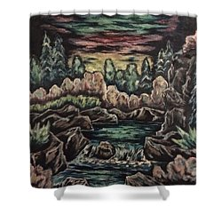 Sunset Shower Curtain by Cheryl Pettigrew