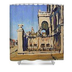 Sunset Cityhall Maastricht Entrance Shower Curtain
