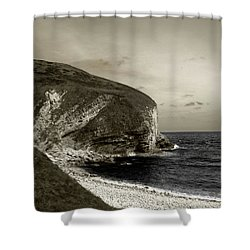 Shower Curtain featuring the photograph Sunset Cliff by Sebastian Mathews Szewczyk