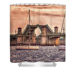 Sunset Closing Shower Curtain