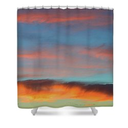 Sunset Clouds In Blue Sky  Shower Curtain by Lyle Crump