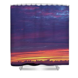 Shower Curtain featuring the photograph Sunset Clouds In Newquay, Uk by Nicholas Burningham