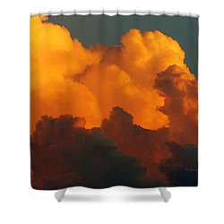 Shower Curtain featuring the digital art Sunset Clouds by Jana Russon