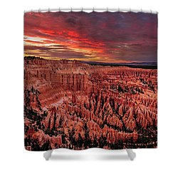 Sunset Clouds Over Bryce Canyon Shower Curtain