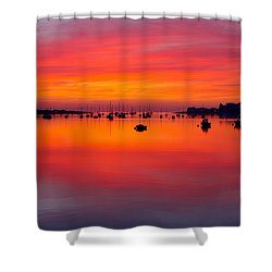 Sunset, Conwy Estuary Shower Curtain