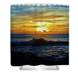 Sunset Shower Curtain by Craig Wood