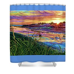 Sunset Creation Shower Curtain