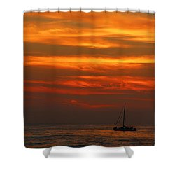Sunset Cruise Waikoloa Hawaii Shower Curtain