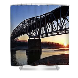 Fraser River, Bc  Shower Curtain by Heather Vopni